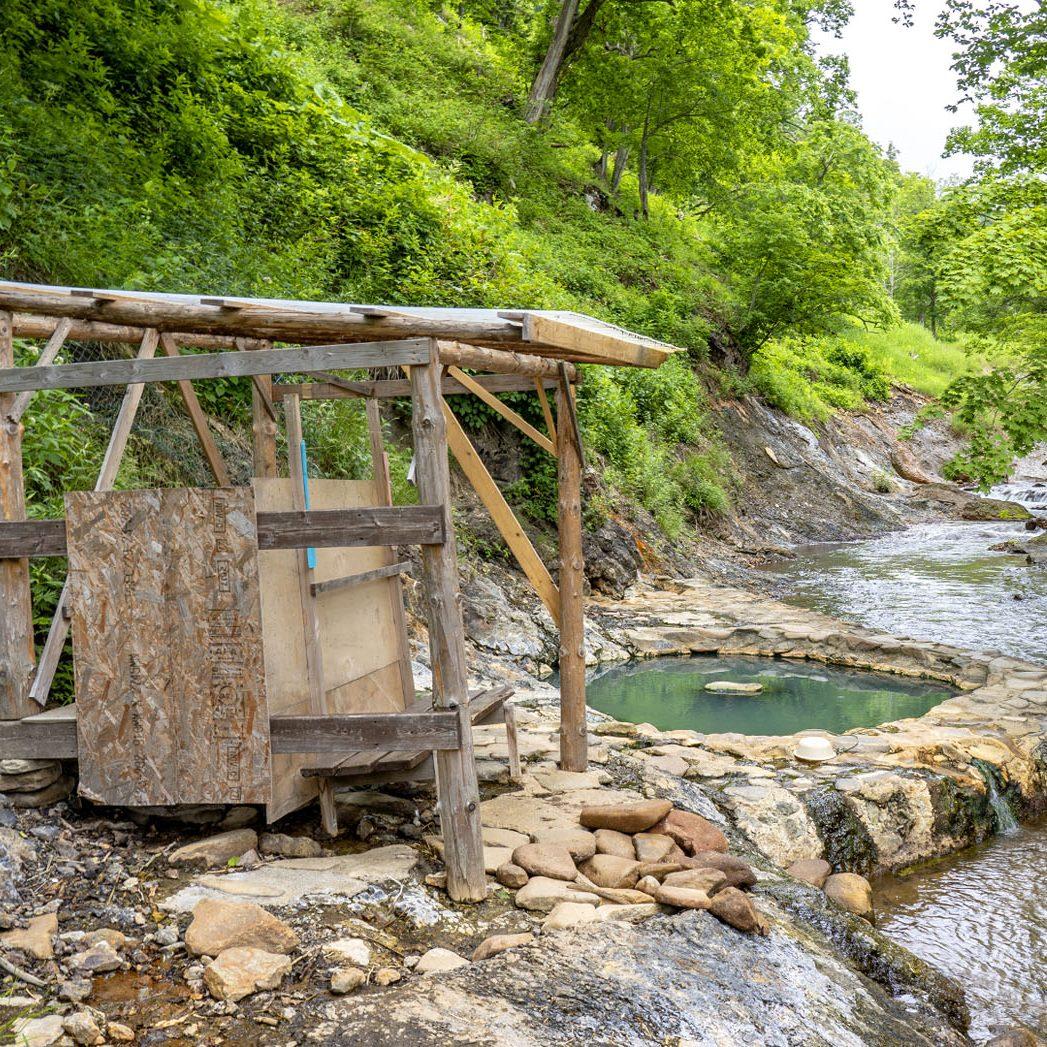 然別峡キャンプ場露天風呂 鹿の湯